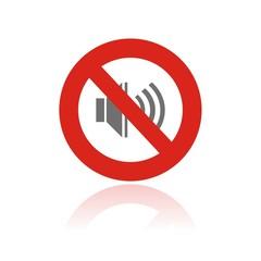 Icono prohibido sonidos FB reflejo