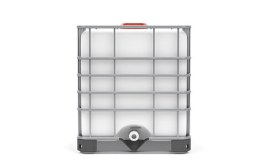 Plastic bulk with metallic cage