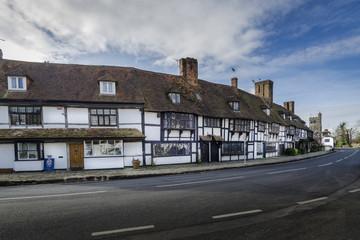English village with timber framed houses, Biddenden, Kent. UK