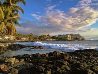 Sunshine along Coast, Kailua Kona, the Big Island of Hawaii