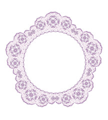Delicate lace frame