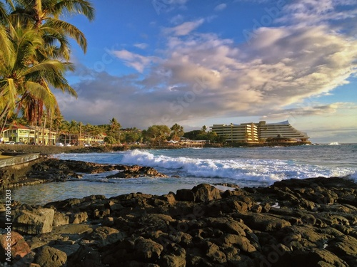 Plexiglas Kust Sunshine along Coast, Kailua Kona, the Big Island of Hawaii