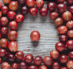 Fresh berries gooseberries