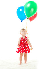 the girl with balloons
