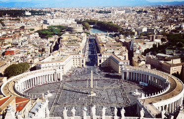 Vatican City in Rome, view of the dome