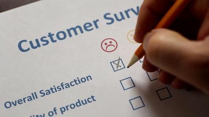 Customer filling survey