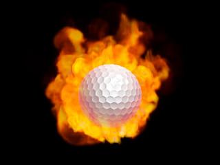 炎のゴルフボール