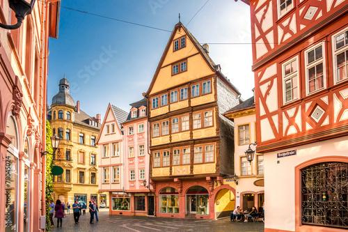 Leinwanddruck Bild Altes Mainz