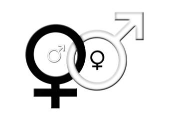 Yin Yang - Männlich, Weiblich - Mann, Frau, Symbol
