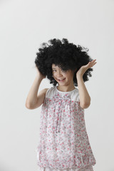 cute girl with wig