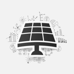 drawing business formulas. solar battery