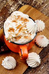 Hot Chocolate with Meringues