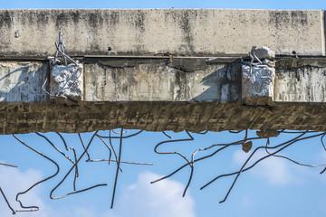 demolition of a bridge