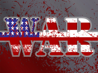 illustration: the war, the American flag
