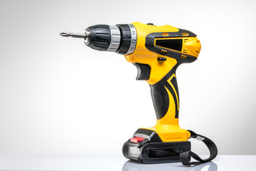 electric screwdriver on a white background