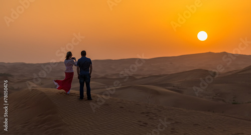 couple pictures of the sunset in the desert