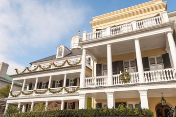 Historic houses along Battery st in Charleston, SC