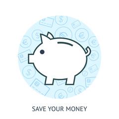 Save money concept