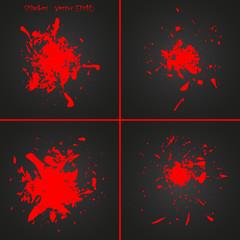 Abstract paint splash illustration