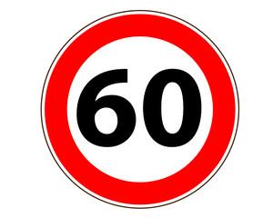 60 Verkehrszeichen symbol