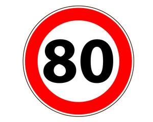80 Verkehrszeichen Symbol