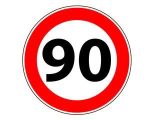 90 Verkehrszeichen Symbol