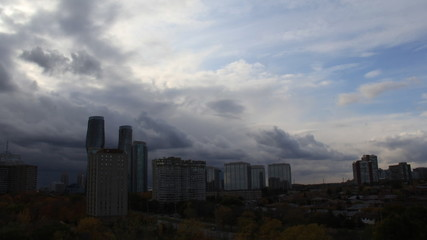 Clouds Building Over Mississauga Time-Lapse