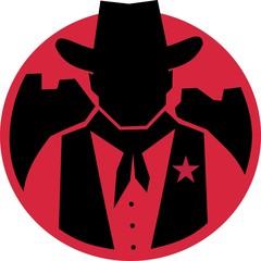 sillouhette cowboy sheriff