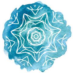 Watercolor blue lace
