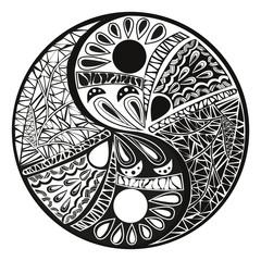 Yin Yang  tattoo for design Symbol vector illustration