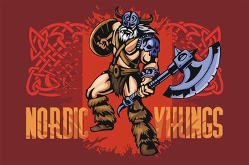 Viking warrior with big axe