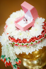 ring engagement flower ceremony concept
