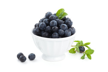 Fresh blueberries.