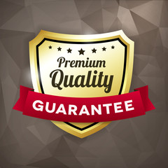 premium quality business gold label