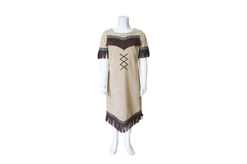 Native American dress isolated on white background