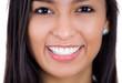 Closeup headshot young beautiful smiling happy woman