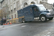 Leinwanddruck Bild - A canadien truck of the electric services