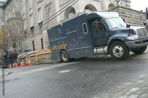 Leinwandbild Motiv A canadien truck of the electric services