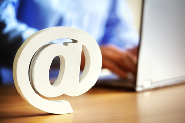 E-mail @ at symbol