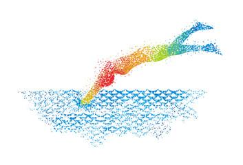 Swimming Art 3