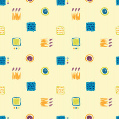 vector hand-drawn seamless pattern geometric