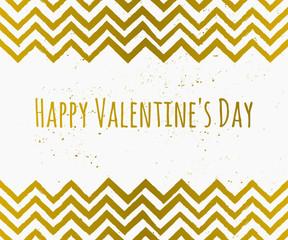 Chevron Pattern St. Valentine's Day Card