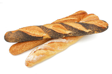 Baguette de pain au pavot - French bread
