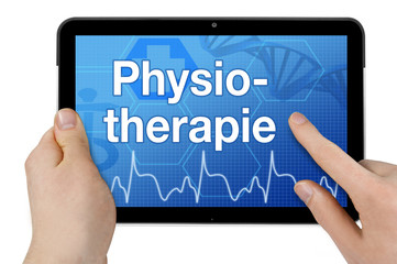 Tablet mit Interface und Physiotherapie