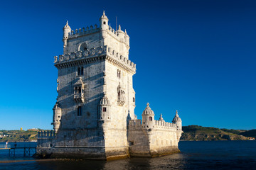 Belem Tower or the Tower of St Vincent in Lisbon