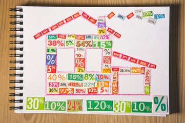 PROPERTY collage made up of cut figures