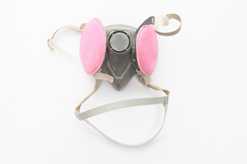 A mask over a studio white background