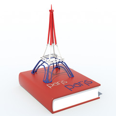 Torre Eiffel 3D con libro