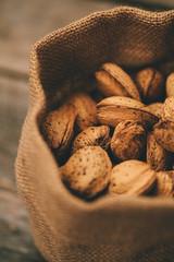 Almonds in a Little Esparto Bag