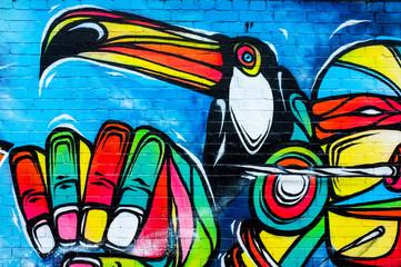 Toucan Bird, Urban Art Painting